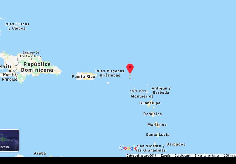 Mapa isla de la Anguila