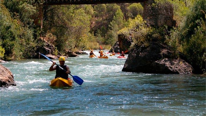 Rafting en aguas bravas de Cazorla
