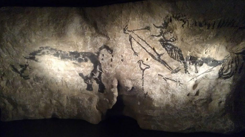 Pinturas en la Cueva del Parque de la Prehistoria.